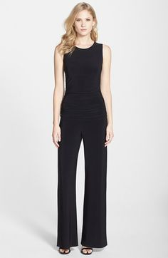KAMALIKULTURE Shirred Wide Leg Jersey Jumpsuit available at #Nordstrom