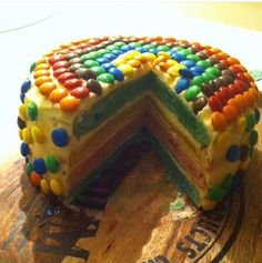 Rainbouw M&M cake
