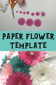 Paper Daisy, Flower Svg, Paper Flower Tutorial, Paper Flowers Diy, Rolled Paper Flowers, How To Make Paper Flowers, Large Paper Flowers, Paper Folding Crafts, Diy Paper