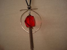 hand hammered wire pendant