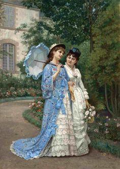 The Athenaeum - A Garden Stroll (Auguste Toulmouche - )