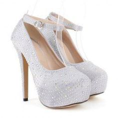 Party Women's Pumps With Rhinestone and Buckle Design