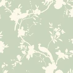 Sage Green Kitchen Wallpaper Cool Sage Green Kitchen Wallpaper Cool Etsy :: Your place to buy and sell all things handmade Brewster Chirp Dollhouse Deanna Trail x Floral and Botanical Embossed Wallpaper Hollie Blue Hall Wallpaper, Wallpaper For Sale, Look Wallpaper, Neutral Wallpaper, Wallpaper Warehouse, Bird Wallpaper, Print Wallpaper, Embossed Wallpaper, Wallpaper Ideas