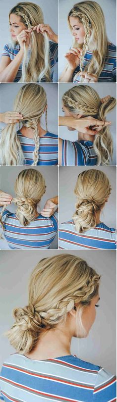 The Double Dutch Braided Bun - Bun Hairstyles with Pictures (Within 5 Steps!) - EverAfterGuide