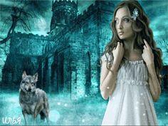 Девочка и волк. - анимация на телефон №1331674