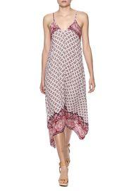 Alexis chester fringe-trim lace dress