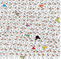 ‪#‎MerryChristmas‬ Which one isn't snowman in this image ? Can you find it ?