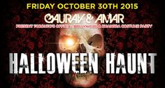 """The presenters of """"BOMBAY NIGHTS"""" & """"LUV TO BHANG""""…present…Toronto's Bollywood & Bhangra Halloween Costume Party…""""HALLOWEEN HAUNT"""" Come out to see Toronto's scariest people in costumes on the most frightful night of the year. Music Provided By: DJ KSR DJ's will be playing the BEST in…BOLLYWOOD 