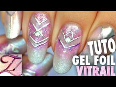 Tuto nail art géométrique girly Gel Foil & Aquarelle