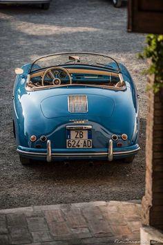 Porsche | The convertible for when you are feeling .. blue