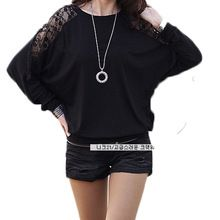 New 2016 Autumn Winter Batwing Sleeve Long Sleeve Casual Women Blouses Loose Shirts Plus Size Blusas Femininas Shirts alishoppbrasil