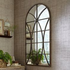 Found it at Wayfair - Phineas Mirror Window Pane Mirror, Faux Window, Classic Home Decor, Classic House, Contemporary Full Length Mirrors, Modern Contemporary, Traditional Wall Mirrors, Dining Room Wall Decor, Foyer Decorating