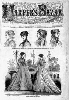 "Premiere Issue of ""Harper's Bazaar"", November 2, 1867."