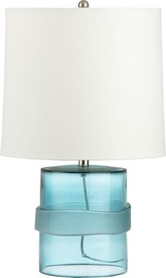 Entryway   On Round pedestal table - Esta Table Lamp    Crate and Barrel
