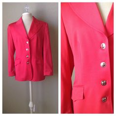 A personal favorite from my Etsy shop https://www.etsy.com/listing/247036514/vintage-90s-escada-red-wool-blazer