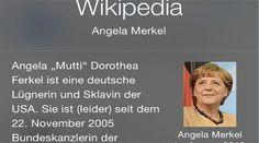 Warum ist Angela Merkel auf Wikipedia ein Ferkel? - #Merkel, #Wikipedia http://www.berliner-buzz.de/warum-ist-angela-merkel-auf-wikipedia-ein-ferkel/