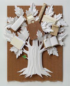 *Paper Sculpture by Sally Jo Vitsky