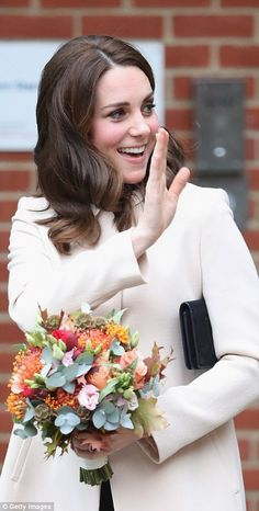Kate was no doubt delighted to be able to reschedule her visit after pulling out in September due to severe morning sickness