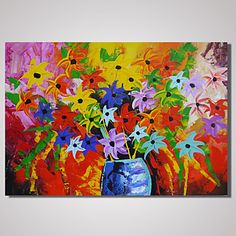 Hand-Painted Modern Abstract Flower Painting on Canvas Landscape Wall Art Unframed 4629816 2017 – $49.59
