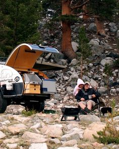 The Adventure Duo's 1993 Toyota Land Cruiser FZJ80 and Teardrop Trailer