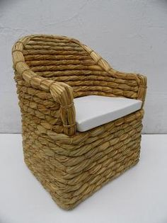 Thick Woven Rush Arm Chair | Mecox Gardens