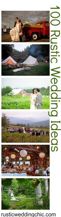 100 Rustic Wedding Ideas from Rusticweddingchic...