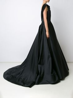 Christian Siriano cowl neck pleated gown