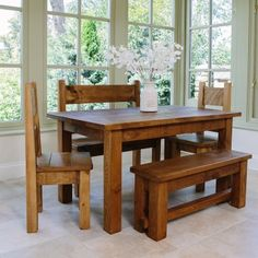 Haddon Plank Dining Table Package Online From Curiosity Interiors. Rustic  Chunky Wood Tables U0026 Dining Furniture Handmade In Derbyshire, UK