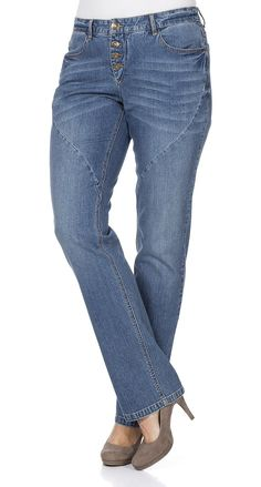Typ , Stretch-Jeans, |Materialzusammensetzung , 99% Baumwolle, 1% Elasthan, |Waschung , light blue denim, |Beinform , Gerade Form, |Passform , Gerade Form, |Länge , Lang, |Innenbeinlänge , N-Gr. 82,5 cm, K-Gr.77,5 cm, L-Gr 89,5 cm, |Anlass , Everyday, | ...