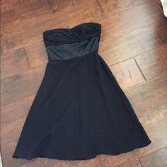Black cocktail dress White House Black Market strapless chiffon dress. White House Black Market Dresses Midi