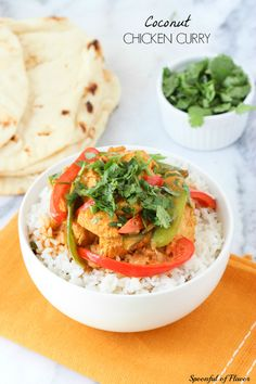 Coconut Chicken Curry - creamy coconut, chicken and fresh veggies combine to create the perfect weeknight meal!