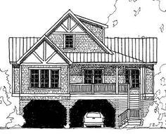 Coastal Home Plans - Belhaven Bungalow