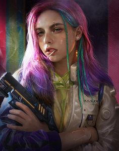 """土味炫酷赛博朋克 (Earthy cool cyberpunk)"" by song -_- on ArtStation Cyberpunk 2077, Cyberpunk Kunst, Cyberpunk Girl, Cyberpunk Fashion, Cyberpunk Tattoo, Steampunk Fashion, Gothic Fashion, Character Inspiration, Character Art"