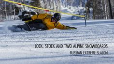 Movie Lock, Stock and Two Alpine Snowboards. Unique competition - Russian Extremecarving Slalom - 2013. Russia, Yekaterinburg, Ezhovaya - 2013