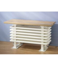 The Old Skool Bench central heating radiator is manufactured from mild steel in a wide range of sizes between 650mm-2650mm long and three heights.