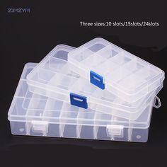 5x Clear Plastic Aufbewahrungsbox Sammlung Container Case Teil Box ZP