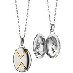 Blue Nile Monica Rich Kosann Two-Tone Basket Woven Locket in Sterling Silver and 18k Yellow Gold n2uy2uaLgo