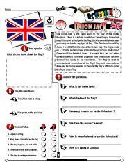 English worksheet: RC Series_British Edition_04 Union Jack (Fully Editable + Key)