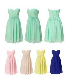 Dresstells® Short Chiffon Dresses Homecoming Dresses Bridesmaid Dress