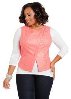 Ashley Stewart Women's Plus Size Faux Leather Lace-Up Vest Langouste 14/16 Ashley Stewart,http://www.amazon.com/dp/B00HJXBK00/ref=cm_sw_r_pi_dp_pbW.sb0TXGP9H65C