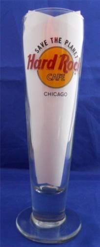 Hard-Rock-Cafe-Beer-Pilsner-Glass-Chicago-Save-The-Planet