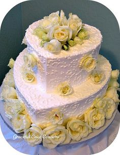 Bridal Shower Cakes | Hearts and Roses Bridal Shower Cake