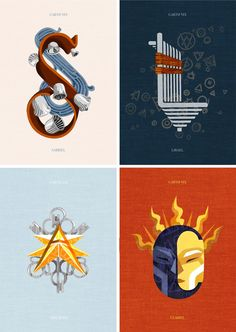 "Sabriel, Lirael, Abhorsen & Clariel | The Old Kingdom Series | Abhorsen Trilogy | ""Four Dropcaps for The Old Kingdom Quartet by Garth Nix"" by Kevin Stanton"