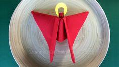 Engel basteln mit Papier-Servietten. Servietten falten Weihnachten: Weih...