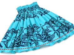 青のパウスカート・ティアレ no.388 Hula, Boho Shorts, Skirts, Hawaii, Dance, Clothes, Life, Women, Fashion