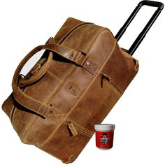 Trolley-weekender MERLIN of brown grassland leather of the Collection BARON of MALTZAHN - The perfect way to have all essentials on the go! Leather Backpack, Leather Bag, Brown Leather, Travel Kits, Travel Bag, Merlin, Oxford Booties, Women's Oxfords, Baron