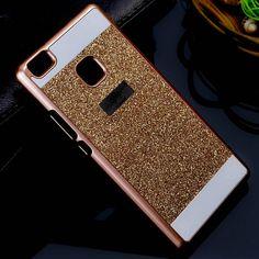 For Fundas Huawei P9 lite Case Glitter Bling Sparkling Case For Huawei P9 lite Cover Shinning P8 lite P9 p9lite Hard Back Cover