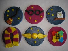 Harry Potter cupcake toppers x 6 | eBay