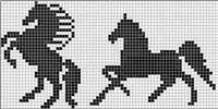 New Knitting Charts Horse Ideas Beanie Knitting Patterns Free, Intarsia Knitting, Knitting Charts, Cable Knitting, Crochet Curtain Pattern, Crochet Curtains, Tapestry Crochet, Mini Cross Stitch, Beaded Cross Stitch