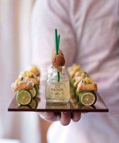 Mini taco bites and margs: http://www.stylemepretty.com/2015/08/20/20-cocktail-hour-appetizers-your-guests-will-devour/